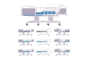 Hospital examination couch set