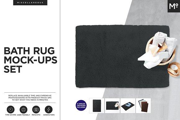 Download Bath Rug Mock-ups Set Generator