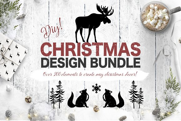 Christmas Design Pack DIY-Graphicriver中文最全的素材分享平台