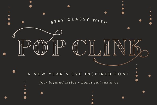 Pop Clink - A New Years Font
