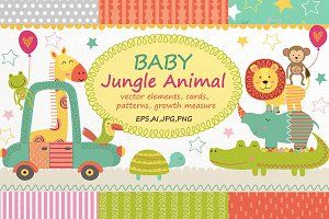 Baby Jungle Animal Set