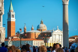 People on San Marco square
