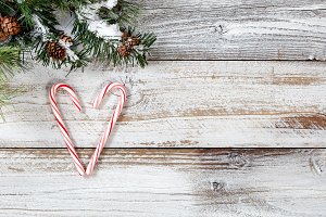 Candy Cane Heart with Fir