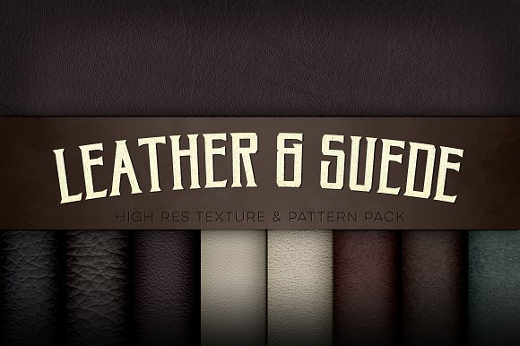 Leather & Suede Texture Pac-Graphicriver中文最全的素材分享平台