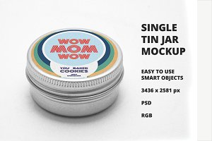 Single Tin Jar Mockup