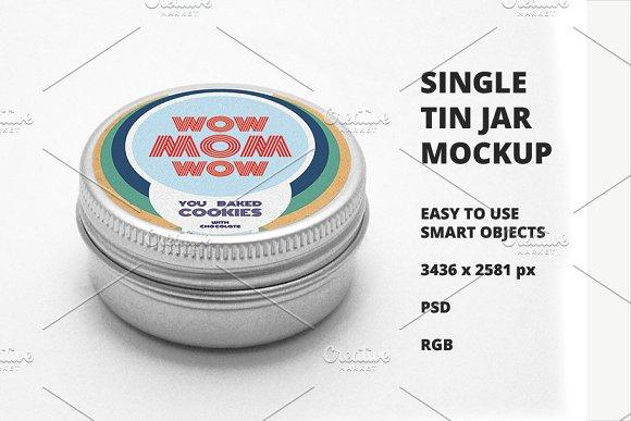 Single Tin Jar Mockup-Graphicriver中文最全的素材分享平台