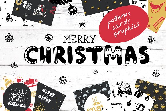 Christmas and New Year Grap-Graphicriver中文最全的素材分享平台