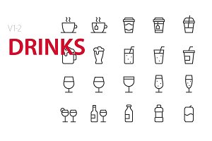 40 Drinks UI icons