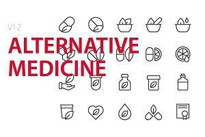40   Alternative medicine UI icons