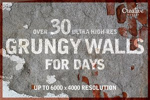 30+ HIGH RES Grungy Wall Textures