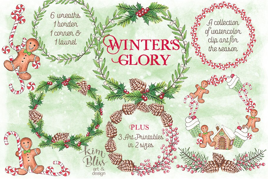 Winter's Glory-Clip Art + Art Prints