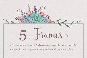 Sweet Succulent Frames
