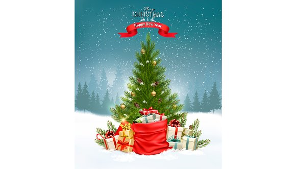 Christmas holiday background in Illustrations