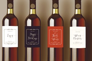 Holiday Wine Label Collection