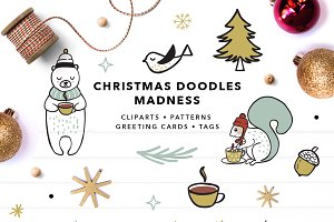 Christmas Doodles Set EPS & PNG