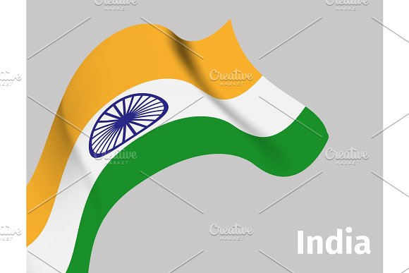 Background With Indian Wavy Flag