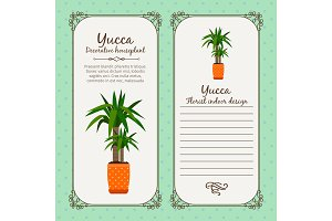Vintage label with yucca plant