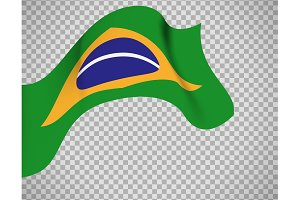 Brazil flag on transparent background