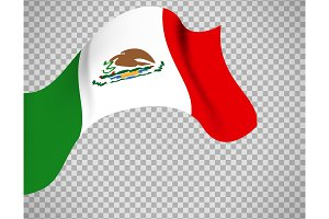 Mexico flag on transparent background