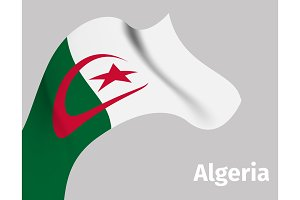 Background with Algeria wavy flag