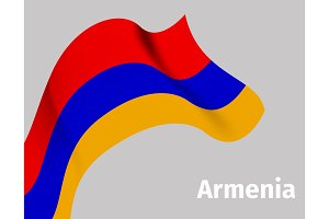 Background with Armenia wavy flag