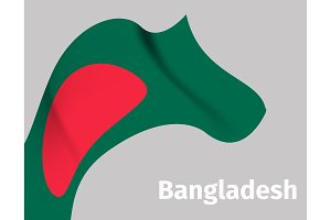 Background with Bangladesh wavy flag