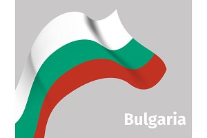 Background with Bulgaria wavy flag