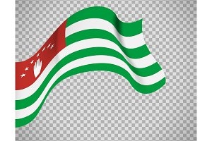 Abkhazia flag on transparent background