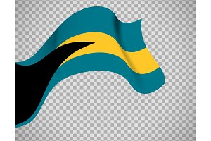Bahamas flag on transparent background