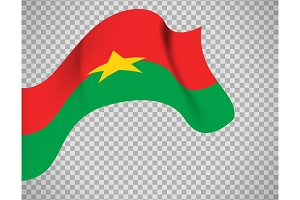 Burkina Faso flag on transparent background