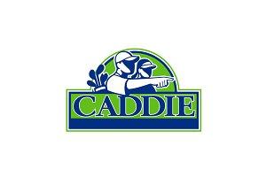 Professional Golfer and Caddie Retro