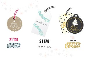 Christmas and Thank you TAG SET