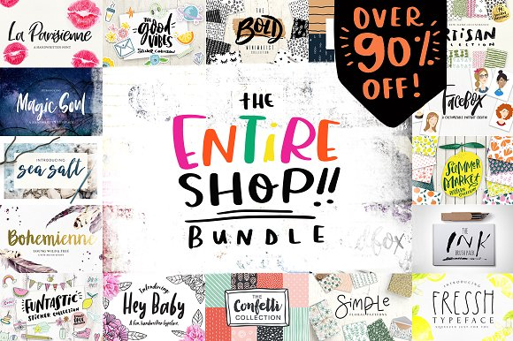 Entire Shop Bundle Cyber Mo-Graphicriver中文最全的素材分享平台