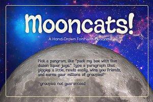 Mooncats— a hand-drawn font