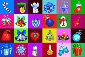 Set of Christmas toys