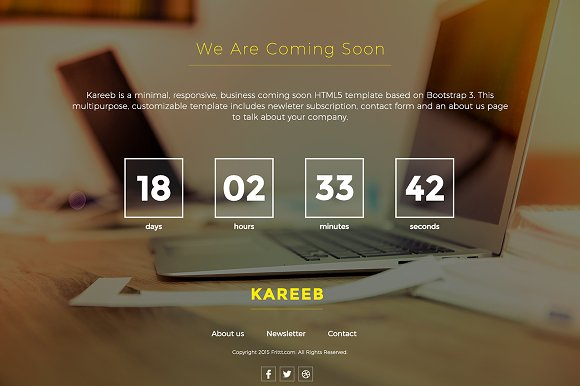 Html coming soon website template website templates creative html coming soon website template websites pronofoot35fo Image collections