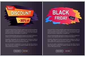 Best Discount 30% Black Friday Vector Illustration