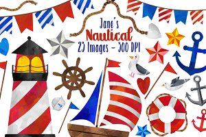 Watercolor Nautical Clipart