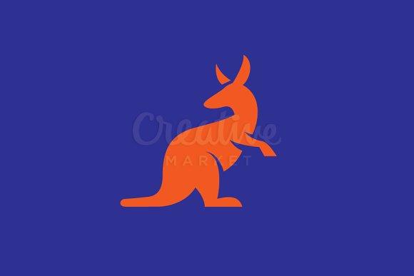 kangaroo logo templates creative market