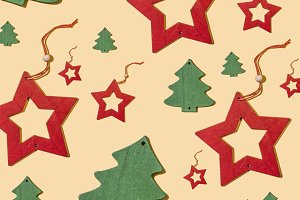 Christmas pattern repeated