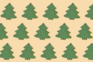 Green Christmas tree repeated
