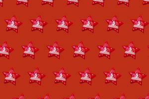 Red Christmas star repeated