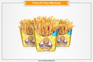 French Fries Mockup