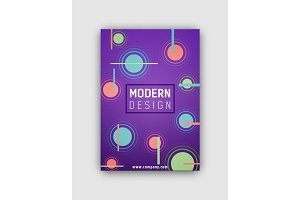 Modern Design Futuristic Cover Vector Illustration