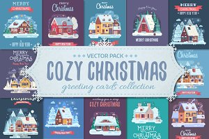 Cozy Winter House Christmas Cards