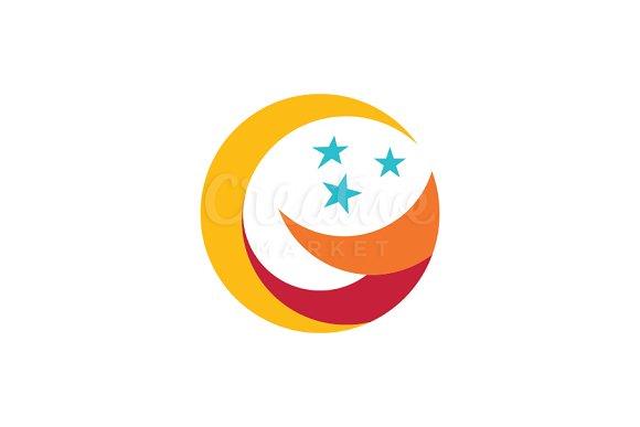 G star moon logo templates creative market g star moon logos maxwellsz