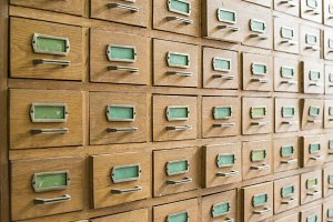 Drawers in archive