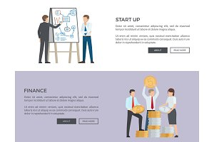 Start Up and Finance Web on Vector Illustration