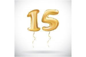 vector Golden number 15 fifteen