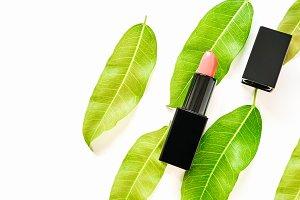Multi colored lipstick arranged